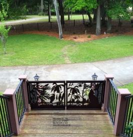 Carolina Palm wolf gate copyright