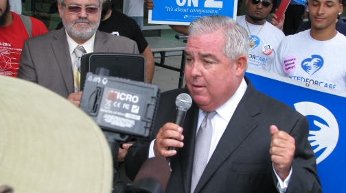 Orlando attorney John Morgan Tuesday Oct. 7 shows up at University of South Florida in Tampa to hold a rally on Tuesday. Morgan bankrolled United For Care's successful effort to gather enough signatures to put a medical marijuana amendment on the November ballot. Now he encouraging young voters, who generally favor making marijuana legal, to vote on Nov. 4.